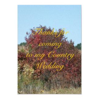Tack för mitt bröllop 12,7 x 17,8 cm inbjudningskort