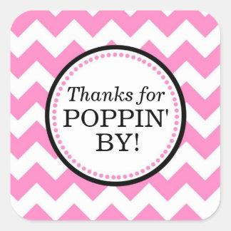 Tack för Poppin av Square klistermärken - sparre