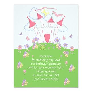 Tack för Princess Rockera sänker kortet 10,8 X 14 Cm Inbjudningskort