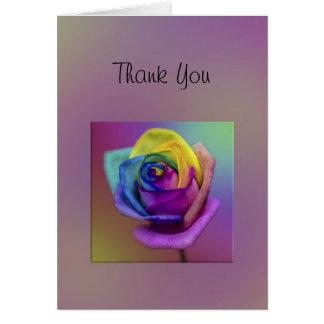 Tack för regnbågeroblomma hälsningskort