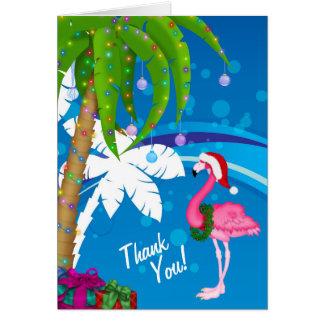 Tack för strand för helgdag för palmträdSanta OBS Kort