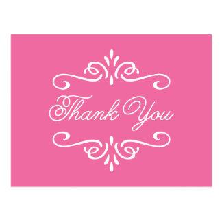 Tack för studenten för vintageshock rosa   vykort