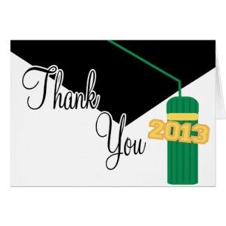 Tack för studentmössa 2013 och Tassel(grönt) OBS Kort