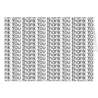 Tack för tack för tacktacktack hälsningskort