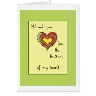 Tack från grunden av min hjärta hälsningskort