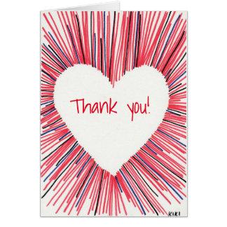 Tack från min hjärta hälsningskort