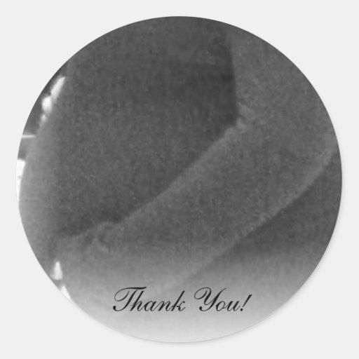 Tack! - Gravidklistermärkear Runda Klistermärken