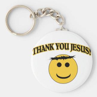 Tack Jesus Rund Nyckelring
