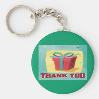 Tack Keychain Rund Nyckelring