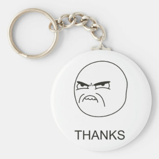 Tack Meme - Keychain Rund Nyckelring