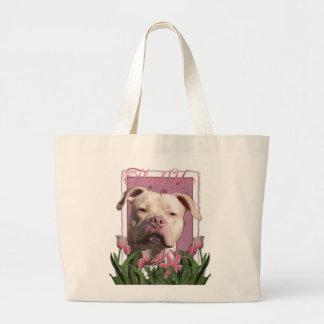 Tack - rosa tulpan - Pitbull - Jersey flicka Tote Bags