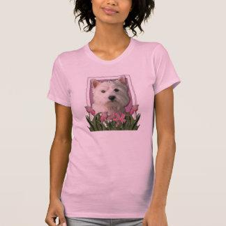 Tack - rosa tulpan - västra höglands- Terrier