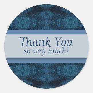 Tack så mycket! runt klistermärke