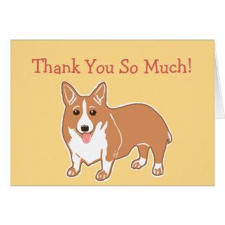 Tack så mycket Corgikort Hälsningskort