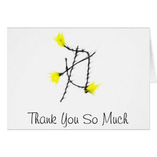 Tack så mycket hälsningskort