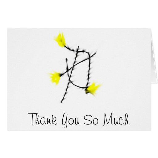Tack så mycket hälsnings kort