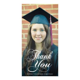 Tack skrivar överdrar studentenfotokort fotokort