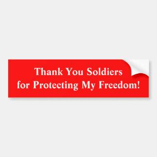 Tack Soldiersfor som skyddar min frihet! Bildekal