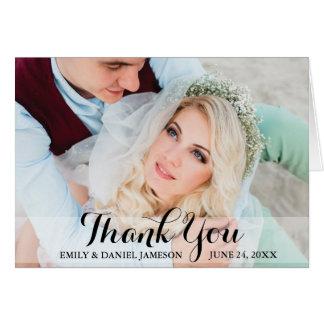 Tack som gifta sig det hopfällbara kortet för hälsningskort