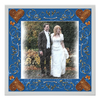 Tack som gifta sig fotoramen fyrkantigt 13,3 cm inbjudningskort