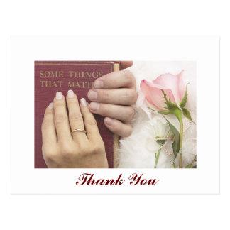 Tack som gifta sig vykortet vykort
