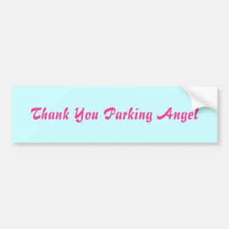Tack som parkerar ängel bildekal