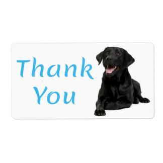 Tack svärtar klistermärken för hunden för den fraktsedel