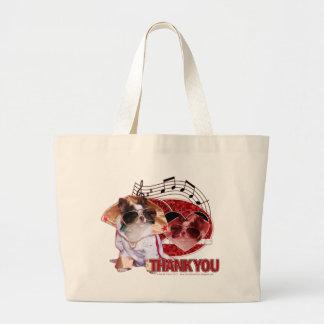 Tack - tack mycket - Chihuahua - Gizmo Tote Bags