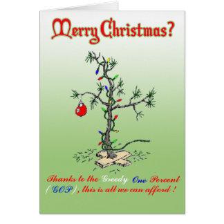 Tack till den giriga en procent roliga julen C Hälsningskort