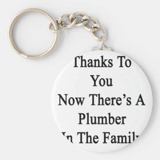 Tack till dig där är nu en rörmokare i family.en rund nyckelring