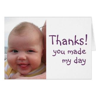 Tack till dig! hälsningskort