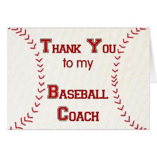 Tack till min baseballlagledare hälsningskort