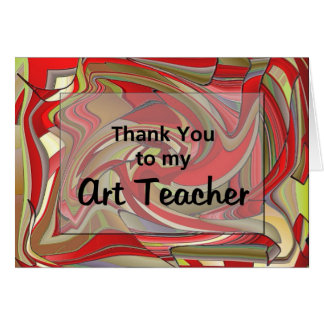 Tack till min konstlärare hälsningskort