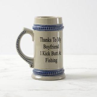 Tack till min pojkvän sparkar jag ändan på fiske ölkrus