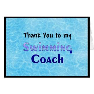 Tack till min simninglagledare hälsningskort
