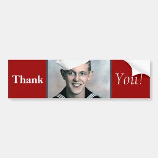 Tack! - Veteranbildekal Bildekal
