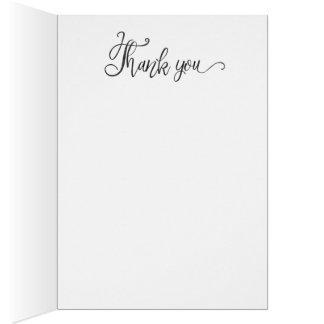Tacka det ge kortet hälsningskort