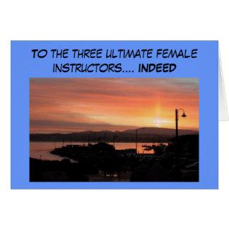 Tacka dig att card för scubainstruktörer hälsningskort