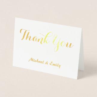 Tacka dig att card personlig folierat kort
