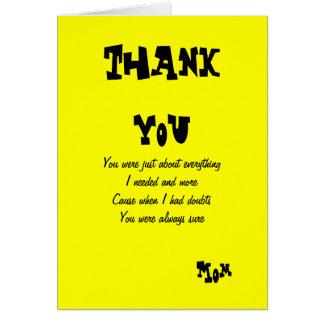 Tacka dig att fostra hälsningkort hälsningskort