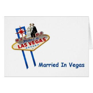 Tacka dig, att gifta sig i Vegas Notecards OBS Kort