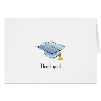 Tacka dig! Beställnings- studentenbrevpapper/kort
