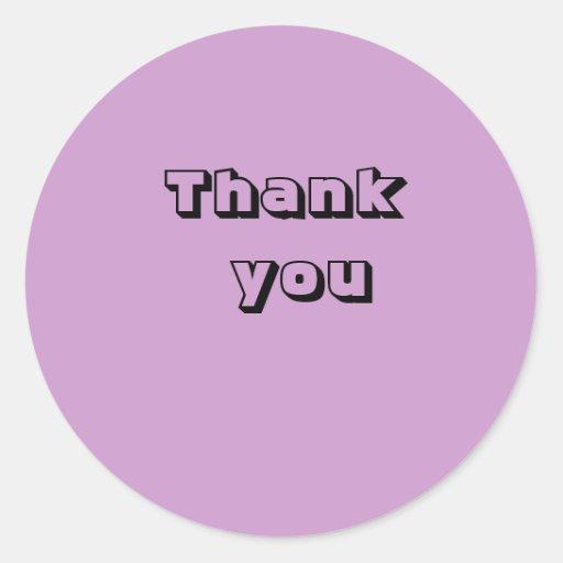 Tacka dig runda klistermärken
