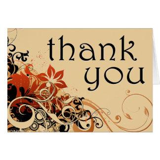 tacka dig: blommabris: hälsningskort