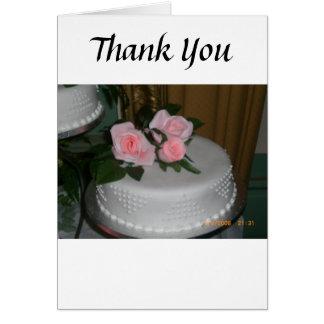 Tacka dig bröllopstårtan hälsningskort