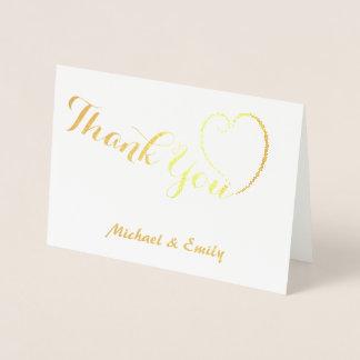 Tacka dig den gulliga hjärtakortpersonligen folierat kort