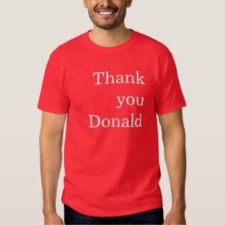 Tacka dig Donald T Shirts