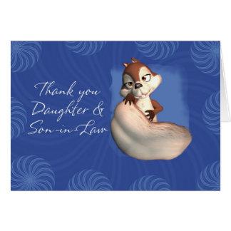 Tacka dig dotter och Son-i-Lag 6 Hälsningskort