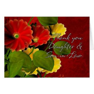 Tacka dig dottern och Son-i-Lag Hälsningskort