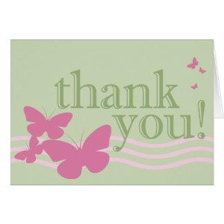tacka dig: fjärilar: hälsningskort